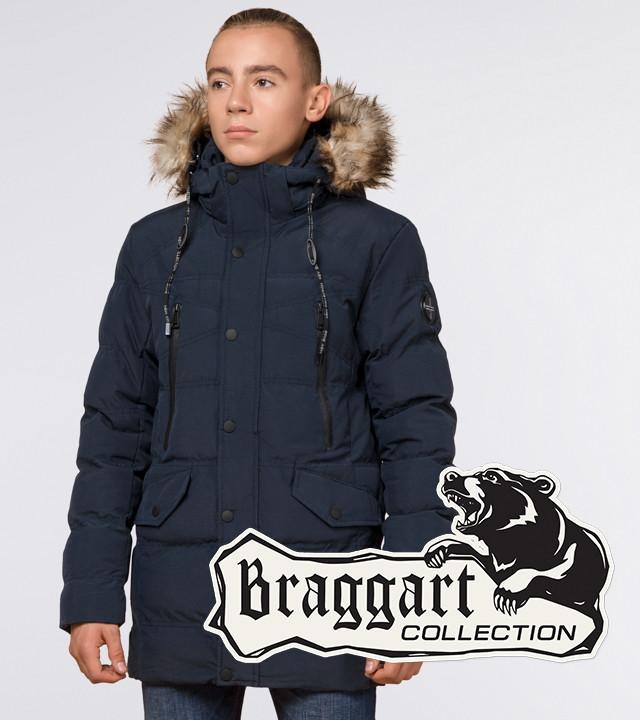 Подросток 13-17 лет |  Зимняя куртка Braggart Teenager 25230 синяя