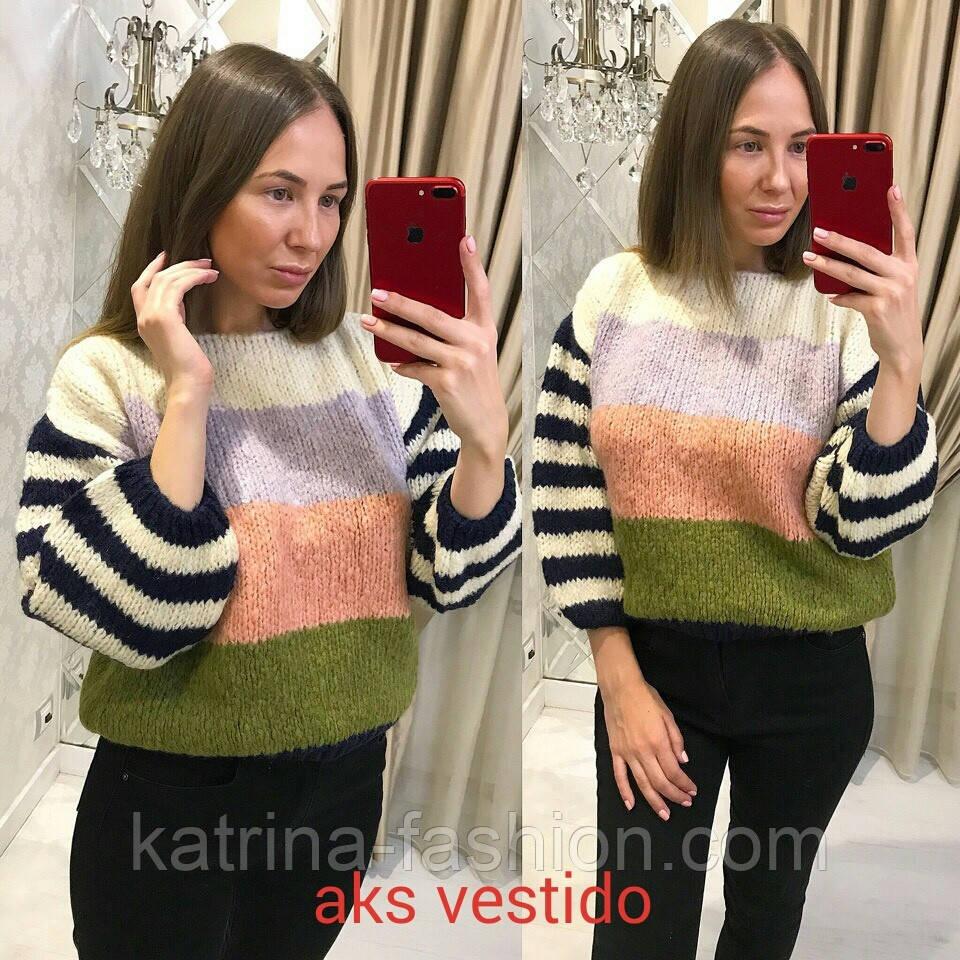 Женский яркий цветной свитер (2 цвета)  продажа, цена в Харькове ... d2191210ef6