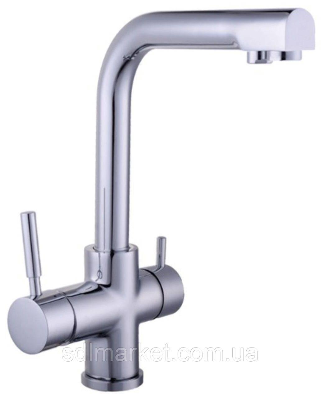 Смеситель кухонный Globus Lux LAZER GLLR-0888 комбинированный