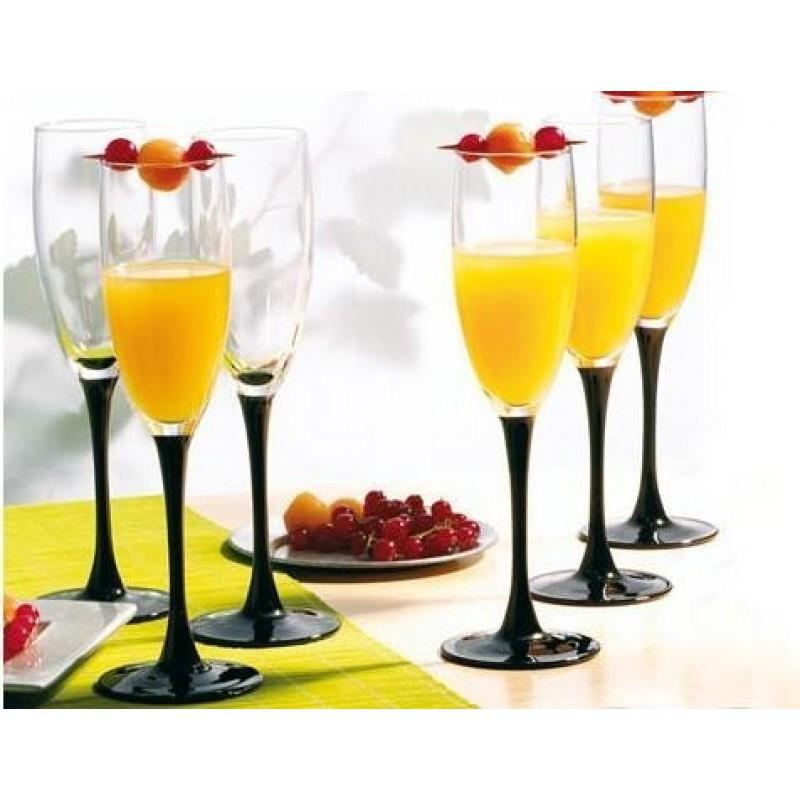 Набор бокалов для шампанского Luminarc Domino 170 мл 6 шт H8167