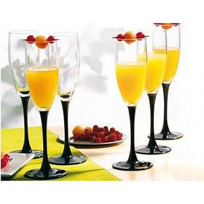 Набор бокалов для шампанского Luminarc Domino 170 мл 6 шт H8167, фото 2