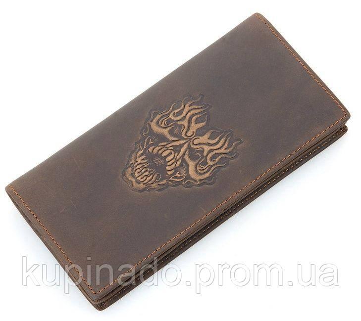 Бумажник мужской Vintage 14384 в винтажном стиле Коричневый, Коричневый