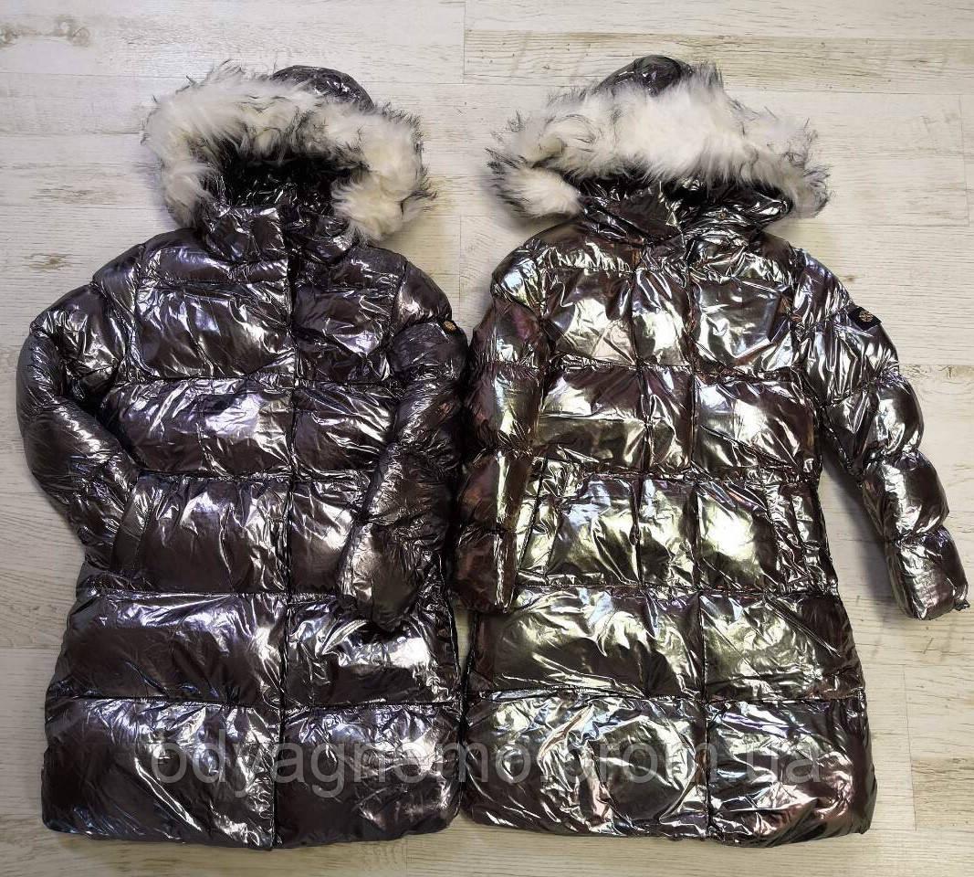 Курточка на меху для девочек Glo-Story оптом, 110-160 рр.