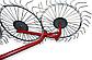 Грабли - ворошилки (солнышко)  навесные 4-х колесные (AGROLUXE, толщина спицы 5мм, оцинкованные), фото 3