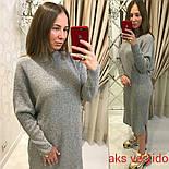 Женское удлиненное вязаное платье свободного кроя (3 цвета) Турция, фото 7