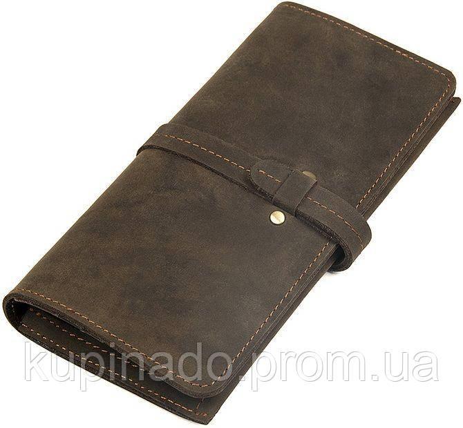Кошелек Vintage 14473 винтажный стиль Коричневый, Коричневый