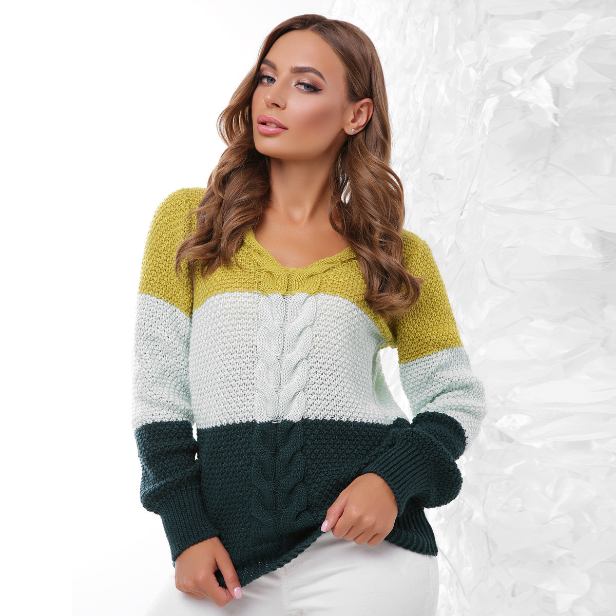 """Теплые вязаные женские свитера """"Дакота"""""""