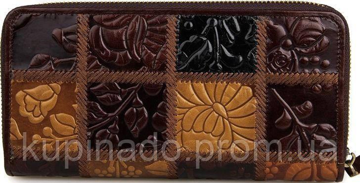 Кошелек женский Vintage 14502 на молнии Коричневый, Коричневый