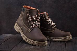 Мужские кроссовки не меху Accord коричневые топ реплика, фото 2