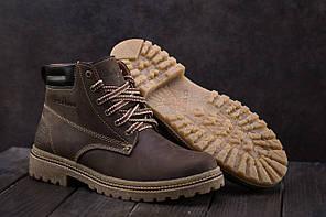 Мужские кроссовки не меху Accord коричневые топ реплика, фото 3