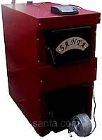 Котел отопления на дровах длительного горения Santa 25кВт с системой автоматики
