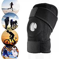 Универсальная неопреновая повязка бандаж на коленный сустав с регулированием на липучке «Demage Pro»