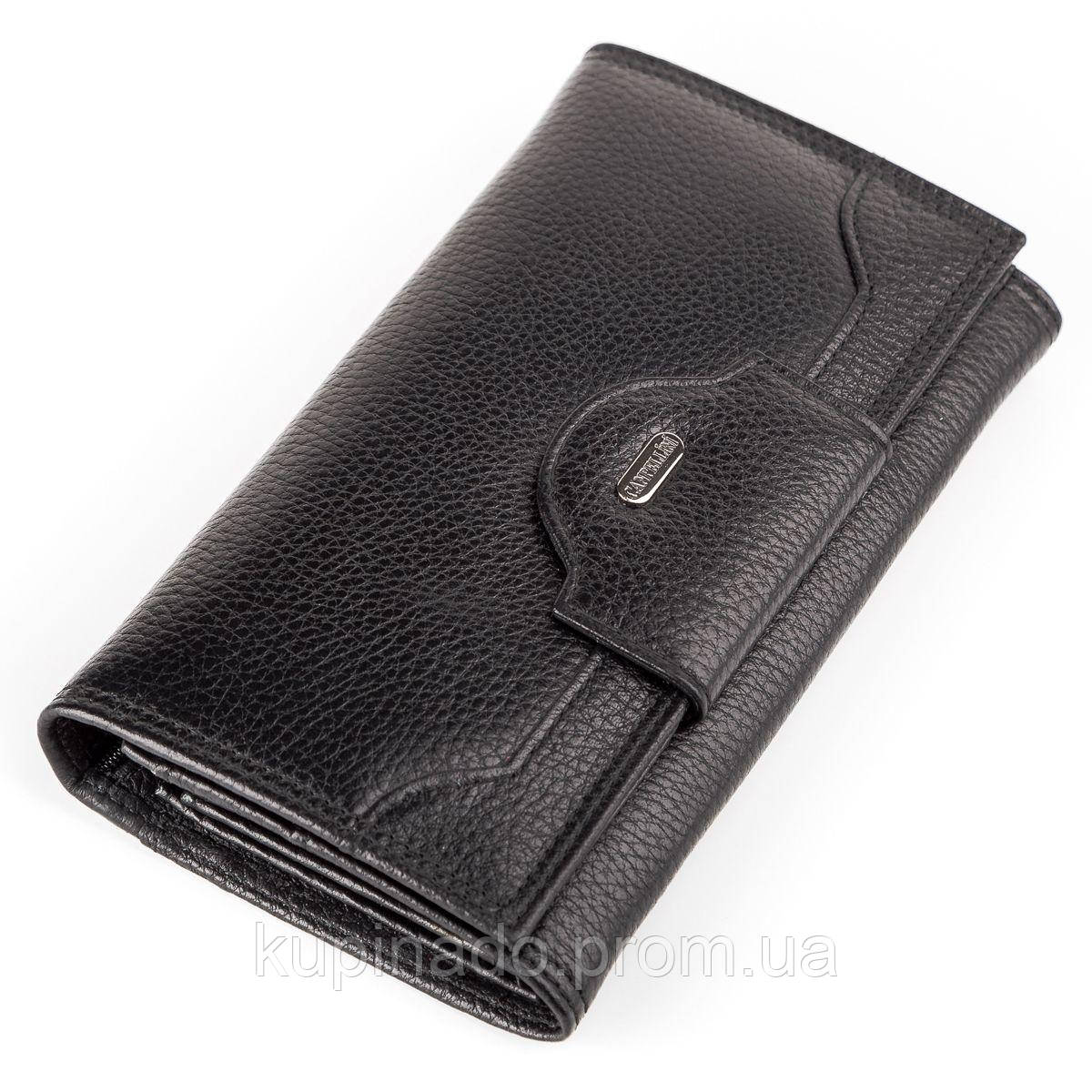 Кошелек женский CANPELLINI 17047 кожаный Черный, Черный