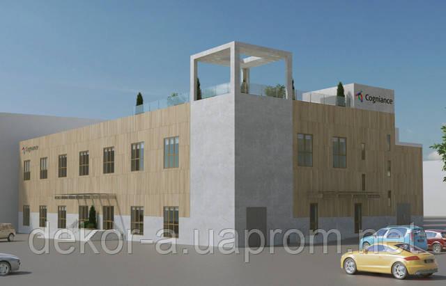 3д макс визуализация офисного здания