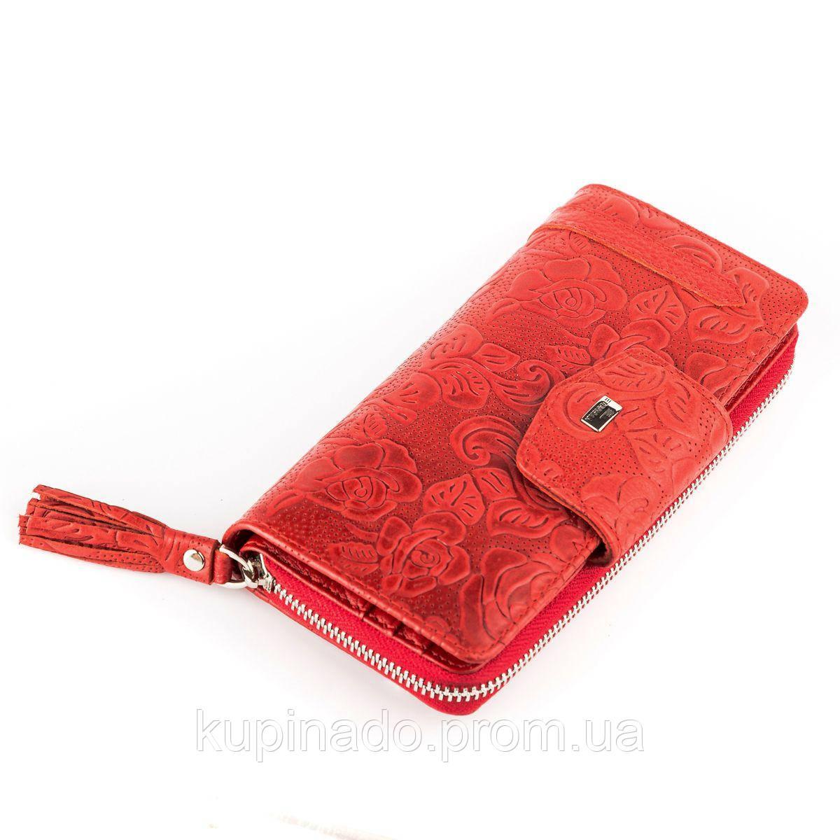 Женский кошелек Desisan 17060 кожаный Красный, Красный