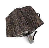 Жіночий стильний парасолька напівавтомат коричневий Mario 949-5