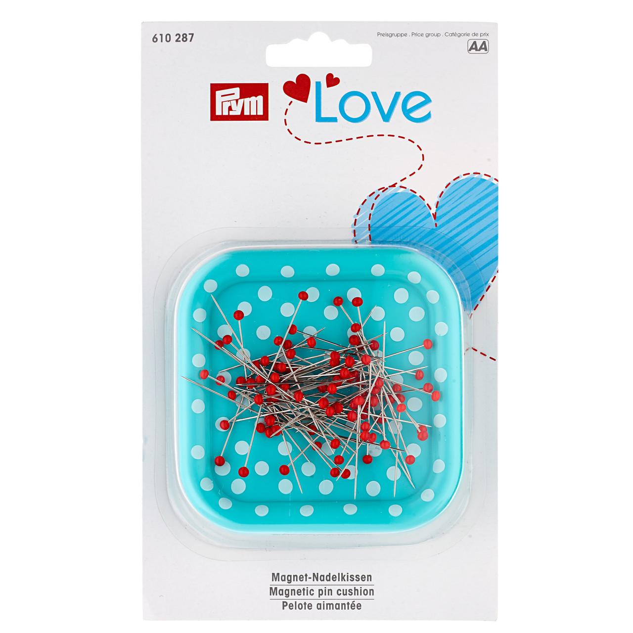 Магнитная игольница «Prym Love» 610287 с булавками со стеклянными головками