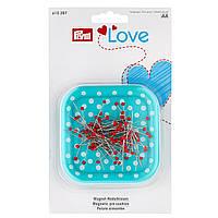 Магнитная игольница «Prym Love» 610287 с булавками со стеклянными головками, фото 1