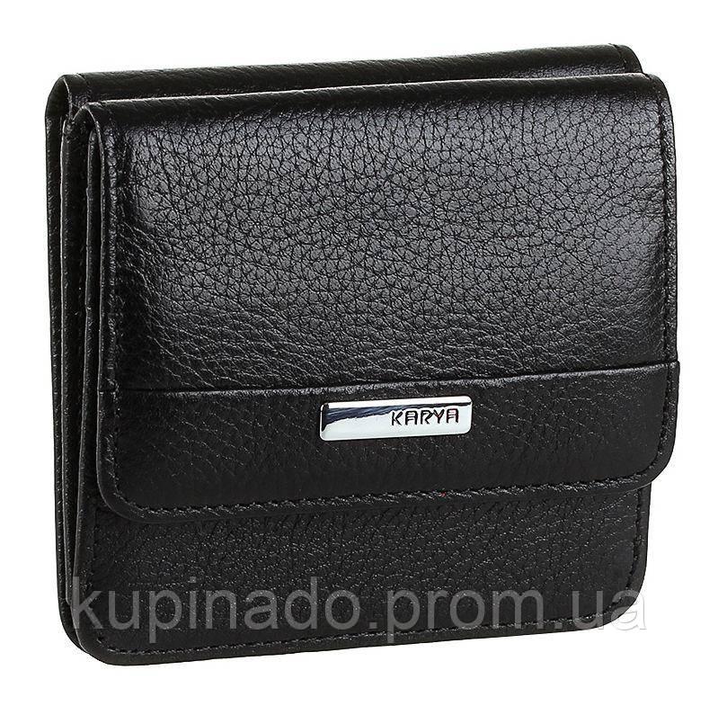 Кошелек компактный KARYA 17175 кожаный Черный, Черный