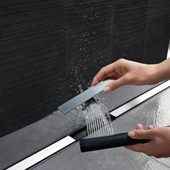 Geberit Верхняя часть трапа Clean Line 20 изменяемой длины L30-130 см, цвет темный металл / матовый металл арт.154.451.00.1