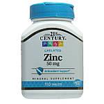 Цинк Хелат, 21st Century, 50 мг, 110 таблеток