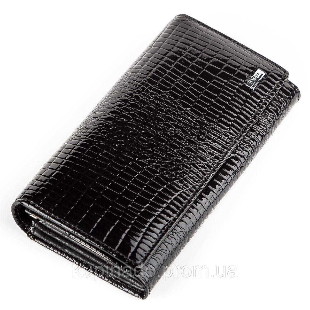 Кошелек женский BALISA 13853 кожаный Черный, Черный