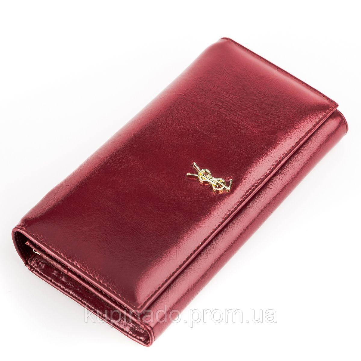 Кошелек женский BALISA 13856 кожаный Бордовый, Бордовый