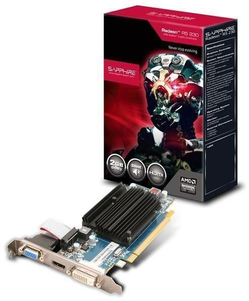 Видеокарта Radeon R5 230 SAPPHIRE 2GB DDR3 PCI-E DLDVI-D/HDMI/VGA
