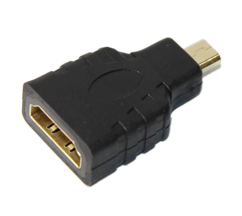 Переходник microHDMI(M)-HDMI(F) черный