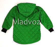 Детская демисезонная куртка для девочек зелёный 2-3 года, фото 2