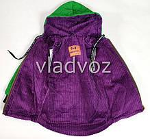 Детская демисезонная куртка для девочек зелёный 2-3 года, фото 3