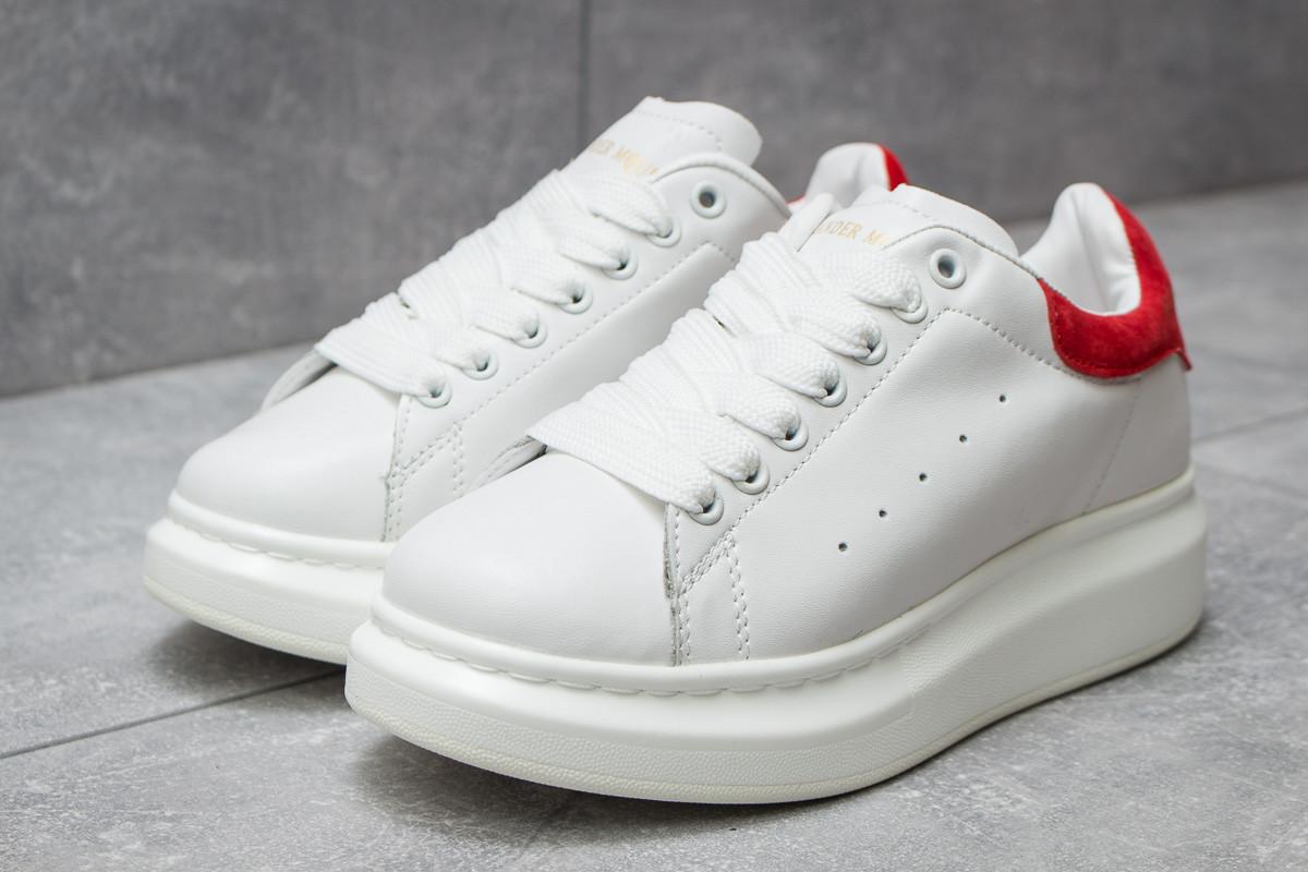Кроссовки женские Alexander McQueen Oversized Sneakers, белые (14752) размеры в наличии ► [  40 (последняя пара)  ]