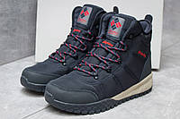 Зимние ботинки  Columbia Waterproof, темно-синие (30172) размеры в наличии ►(нет на складе), фото 1