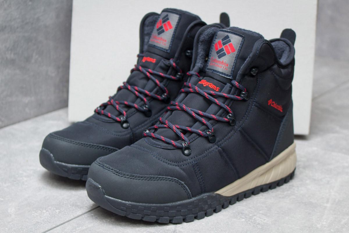 Зимние ботинки  Columbia Waterproof, темно-синие (30172) размеры в наличии ►(нет на складе)
