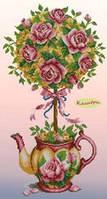 "Схема для вышивки ""Топиарий роза"""