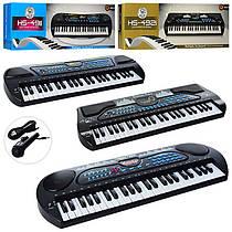 Дитячий синтезатор на 49 клавіш, з функцією запису, мікрофон, USB зарядне, HS4911-21-31