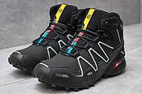 Зимние ботинки  Salomon Speedcross 3 M&S Contagrip, черные (30185) размеры в наличии ►(нет на складе), фото 1