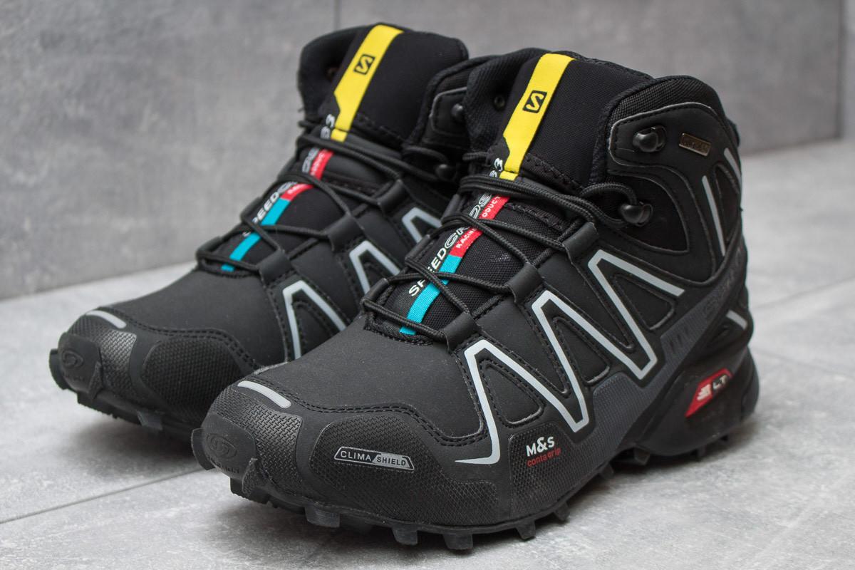 Зимние ботинки  Salomon Speedcross 3 M&S Contagrip, черные (30185) размеры в наличии ►(нет на складе)