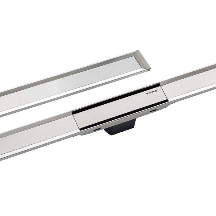 Geberit Верхняя часть трапа Clean Line 20 длин L30-130 см, цвет полированный / матовый металл арт.154.450.KS.1