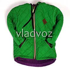Детская демисезонная куртка для девочек зелёный 3-4 года