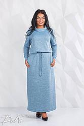 Платье в пол БАТАЛ  04д41113