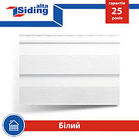 Сайдинг виниловый Альта-Профиль Alta-Siding двухпереломный 3660х230х1,1 мм белый