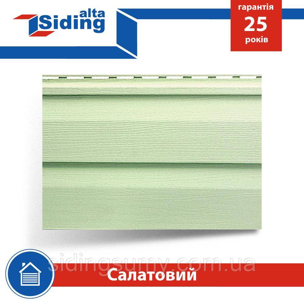 Сайдинг виниловый Альта-Профиль Alta-Siding двухпереломный 3660х230х1,1 мм салатный