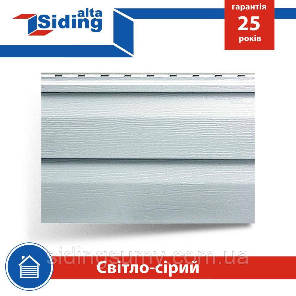 Сайдинг виниловый Альта-Профиль Alta-Siding двухпереломный 3660х230х1,1 мм светло-серый