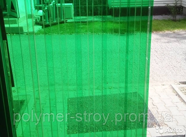 Гофрированный поликарбонат 1.05х6метров BORREX Зеленый