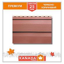 Сайдинг акриловий Альта-Профіль KANADA Плюс Преміум двухпереломний 3660х230х1,1 мм червоно-коричневий