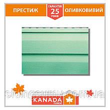 Сайдинг виниловый Альта-Профиль KANADA Плюс Престиж двухпереломный 3660х230х1,1 мм фисташковый