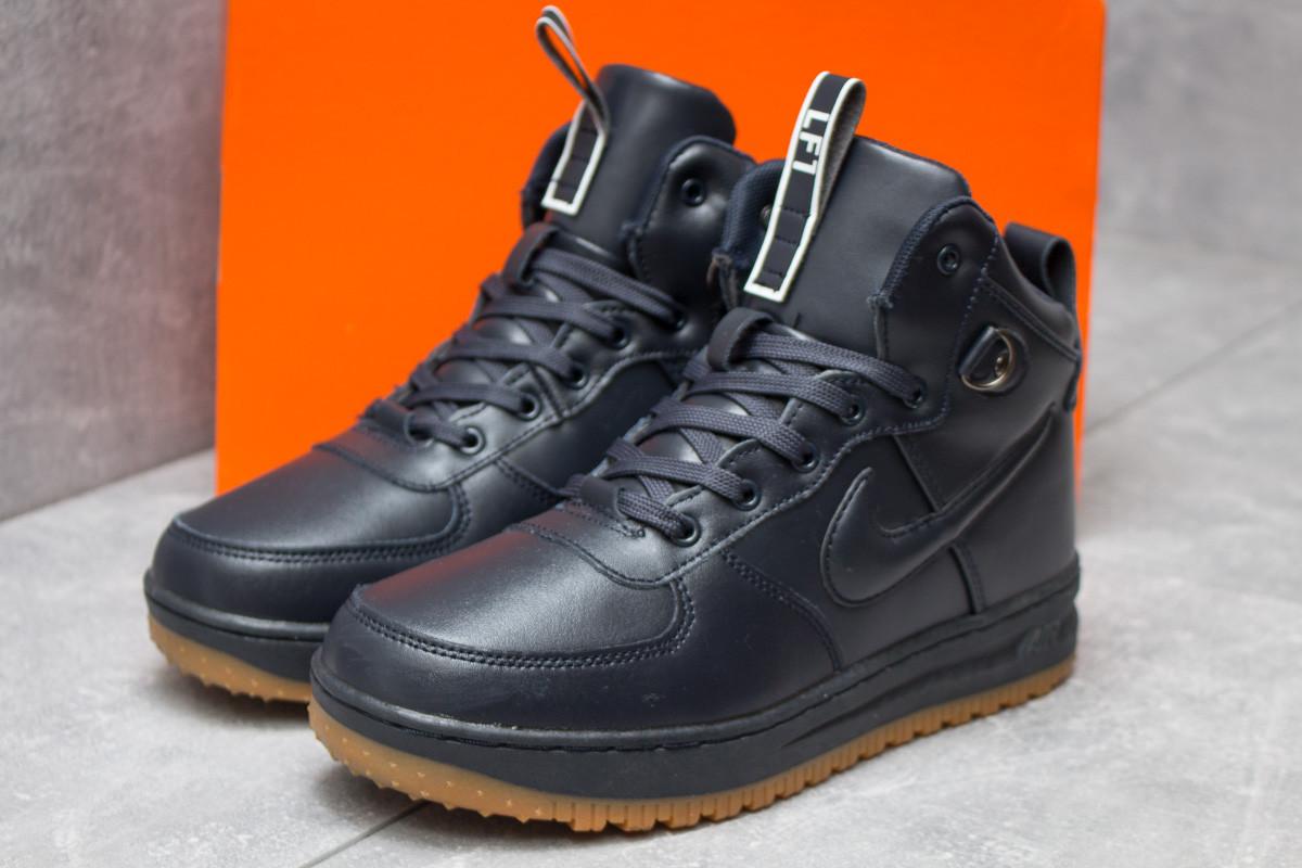 Зимние кроссовки Nike Air, темно-синие (30223) размеры в наличии ►(нет на складе)