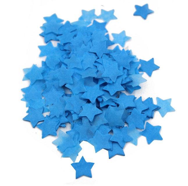 Конфетти звезды синие 35мм 1кг
