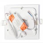 Світлодіодний вбудований світильник ЕВРОСВЕТ LED-S-120-6 6W 4200K/6400K, фото 6